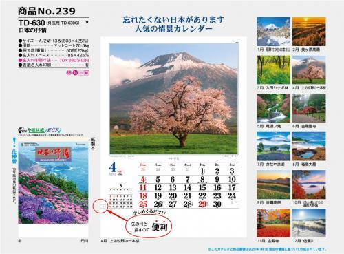 <span>No239</span>TD-630(外玉用 TD-630G)<br>日本の抒情